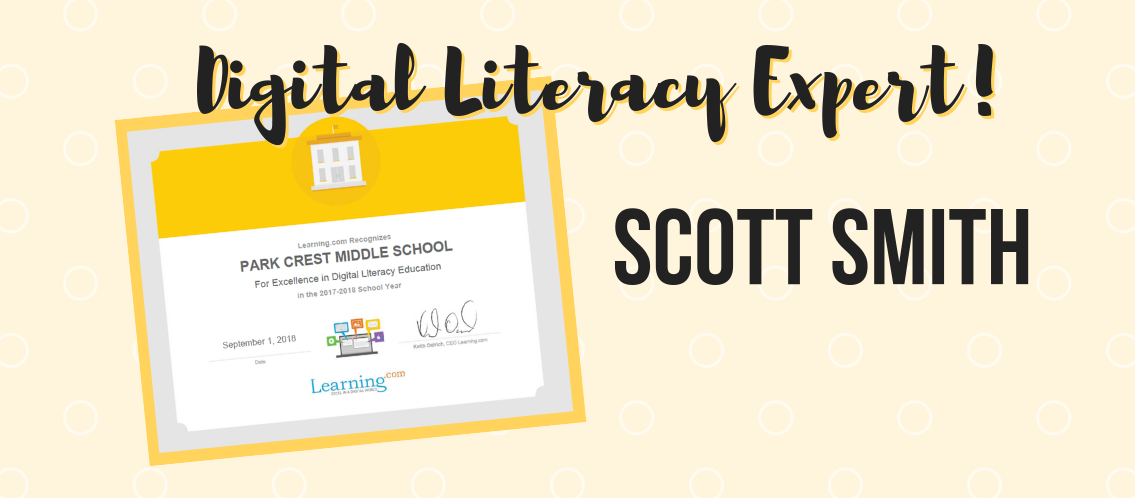Mr. Smith Named Digital Literacy Expert