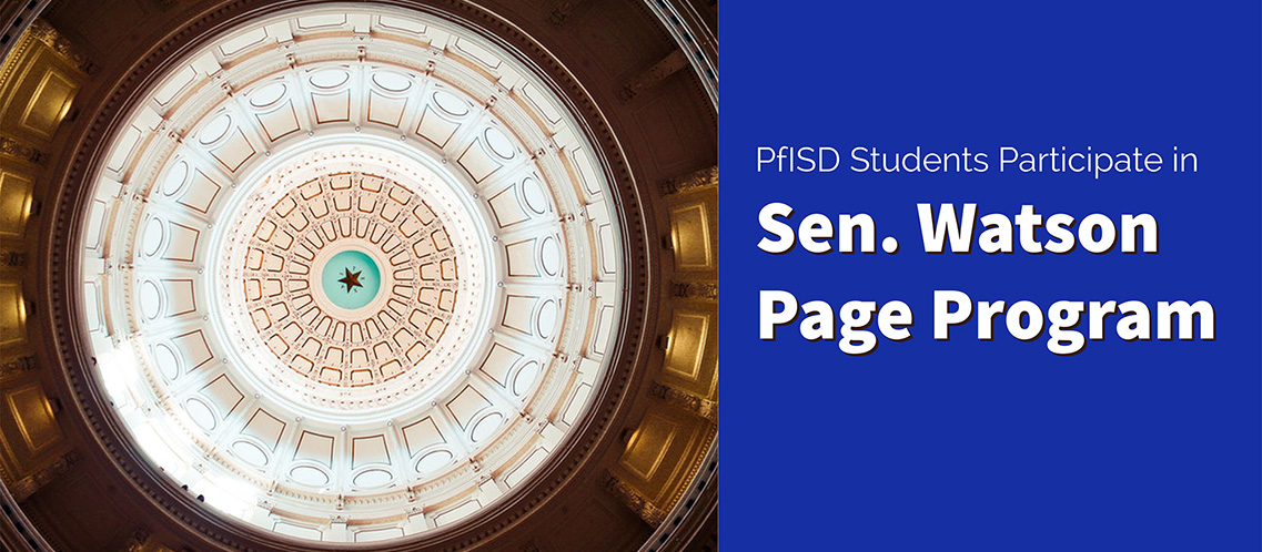 PfISD students participate in page program at State Capitol