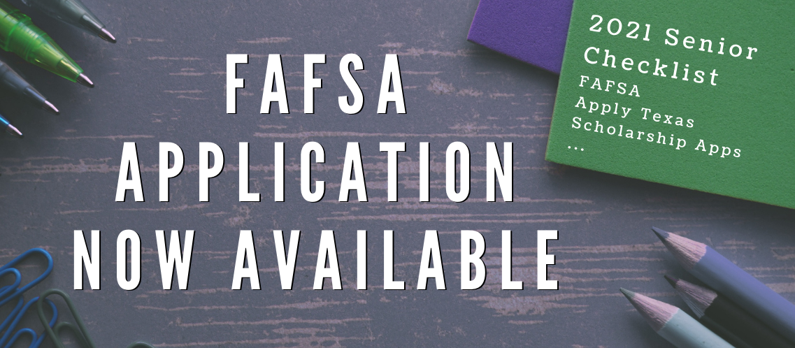 FAFSA Application Now Available