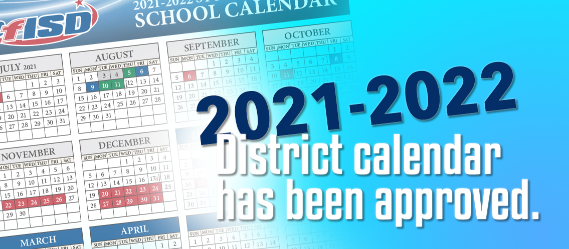 2021-2022 Calendar Approved