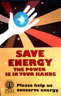 Save Energy The Power is in Your Hands PISD Poster