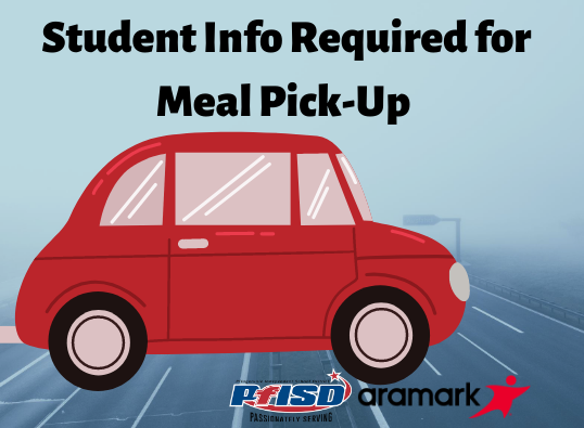 Student Info Required For Meal Pick-Up