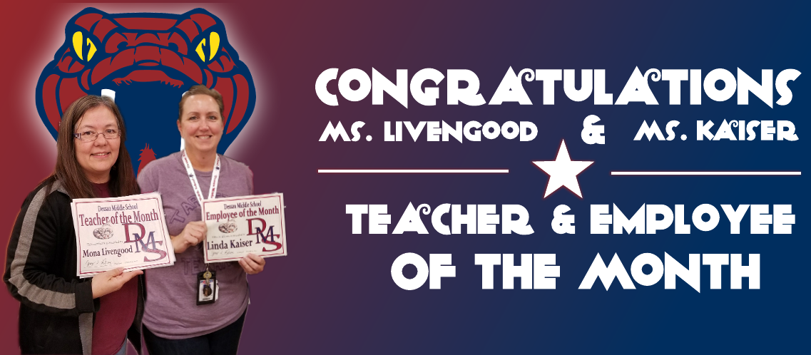 October's Teacher & Employee of the Month