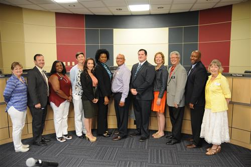 New PfISD middle school principals and APs were recognized by the Board.