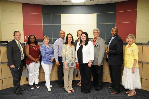 PfISD recognized its new district administrators to the Board.