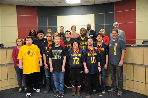 Special Olympics medal winners recognized by Board