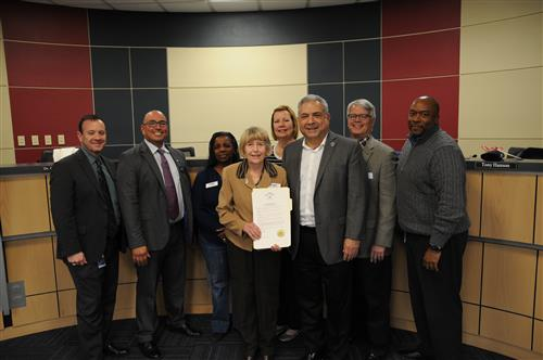photo of Pflugerville Mayor with proclamation