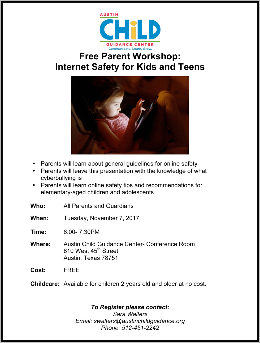 Parental involvement / Free Parent Workshops