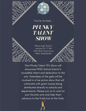 Pfunky Talent Show Flyer