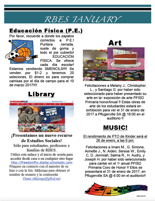 January Specials Newsletter