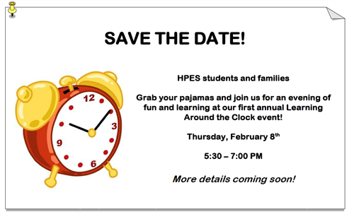 save the date learning event
