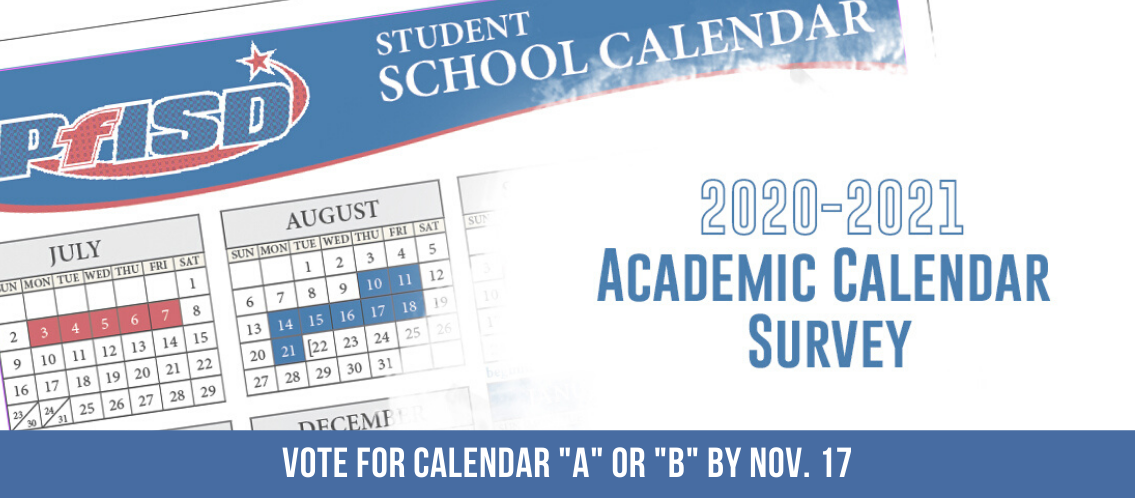 PfISD Calendar Survey, Vote by Nov. 17