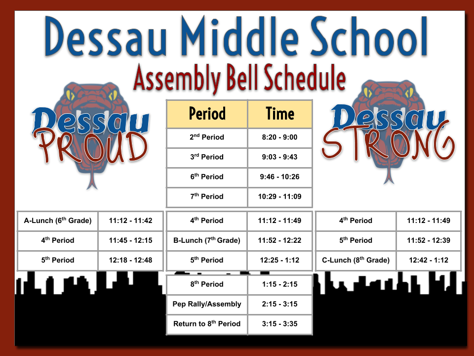 DMS Bell Schedule ASSEMBLY