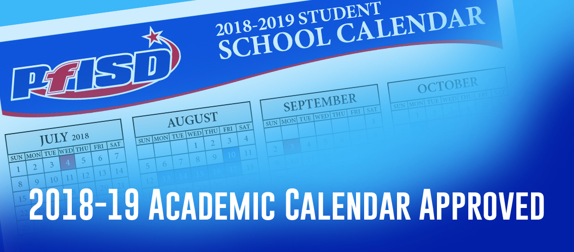 2018-2019 District Calendar approved