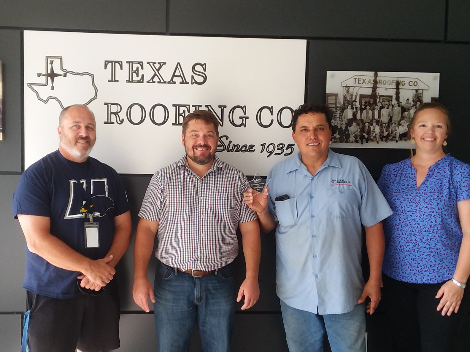 Texas Roofing, Board Member Mitchell honored by Career and Technical Association of Texas