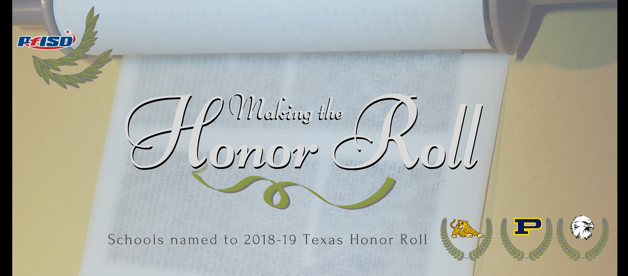 PfISD schools named to Texas Honor Roll