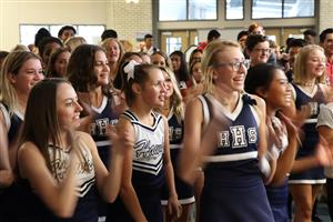 HHS cheerleaders, ESPN/Special Olympics announcement