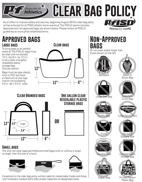Pfield Clear Bag Policy