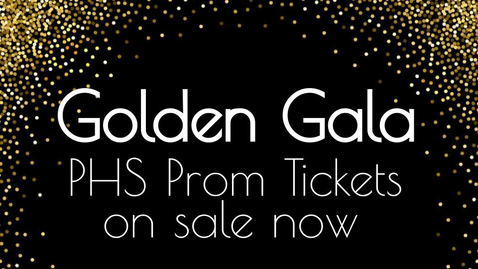 Golden Gala Prom Tickets for Sale Here